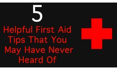 5 Helpful First Aid Tips That You May Have Never Heard Of - who knew a banana peel could help a bug bite??? Great for moms with little kids