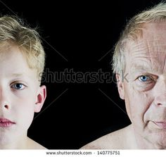 Getting older - stock photo