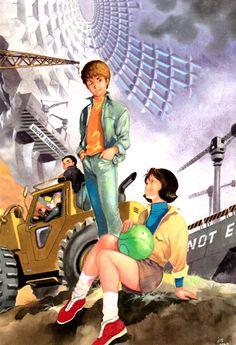 Gundam Illustration by Yas: Amuro and Frau. Plus Kai Shiden and Hayato kobayashi