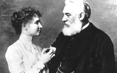 Hellen Keller, who became blind and deaf at 18 months, met Alexander Graham Bell when she was a child and her parents contacted the famous inventor for his help. Bell connected the Keller family with the Perkins Institute through which Helen met her teacher Anne Sullivan.