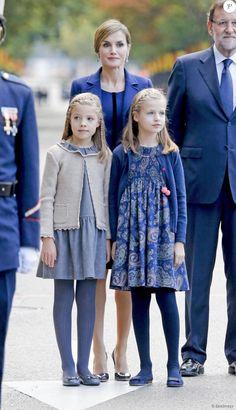 Spanish Royals attended the Spanish National Day military parade (Dia de la Hispanidad) at Canovas del Castillo Circus on October 12, 2015 in Madrid, Spain.