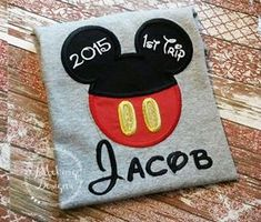 Boy Mouse Custom embroidered Disney Inspired by JMehargDesigns