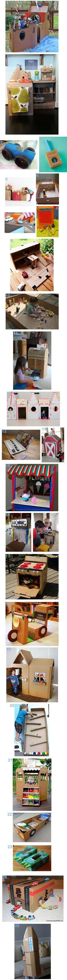 scatoloni che avanzano + bambini = .... 25 Ideas for a Cardboard Box!
