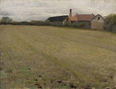 """Landscape with Farm Building, Concarneau, France,"" Cecilia Beaux, 1888, oil on canvas, 11 1/16 x 14 3/16"", Pennsylvania Academy of the Fine Arts."