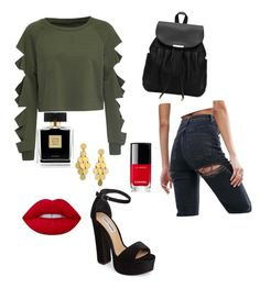 A fashion look from April 2017 featuring cropped shirts, high rise jeans and high heeled footwear. Browse and shop related looks. High Rise Jeans, Crop Shirt, Lime Crime, Avon, Steve Madden, Chanel, Fashion Looks, Polyvore, Shirts