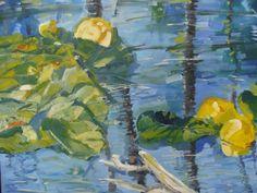 Water Flowers by Richard Szkutnik, Painting - Oil | Zatista