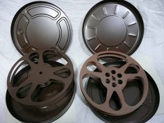 vintage Movie reels and cans 16mm film for projector or art by super8filmaholic on Etsy https://www.etsy.com/listing/252597694/vintage-movie-reels-and-cans-16mm-film