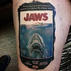 Jaws | 37 Incredible Horror Movie Tattoos That'll Give You Nightmares