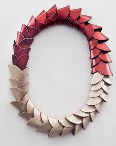 Necklace | María Boggiano.  Leather