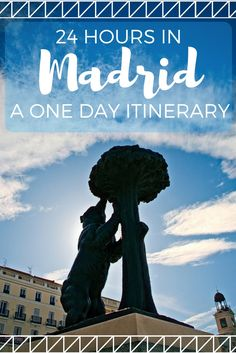 With just 1 day in Madrid, here's how you can see all of the main sights: and on foot in a self-guided walking tour!  #Madrid #Spain #1DayMadrid