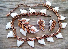 MATISSE RENOIR Jewelry LAUREL Parure  Leaf Jewelry by TheCopperCat