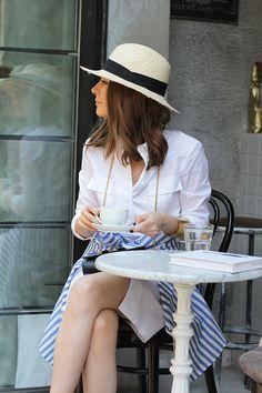 Fashion and style: White shirt dress