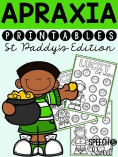 St. Patrick's Day Apraxia! No prep apraxia materials for March speech therapy!