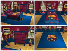 FC Barcelona bedroom. Kades 2nd favourite footy team after Spurs :-) He would love this!