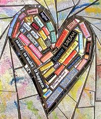 Sofia Harrison - Mosaic Assemblage using glass, paper, paint and found objects. Story telling under broken shards of glass ! Mosaic Crafts, Mosaic Art, Mosaic Glass, Mosaic Tiles, Fused Glass, Stained Glass, Glass Art, Mosaic Madness, I Love Heart
