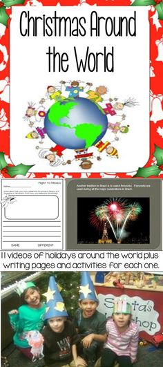 Go on a trip around the world to different countries to learn how they celebrate Christmas, Hanukkah, and Kwanza. These PowerPoint videos make learning fun and engaging. Classroom management is built into the videos so students stay on task. Questioning is also built in to build comprehension. These videos are short and simple perfect for young learners. Each video has a writing page and a short activity to do with the country.