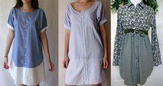 Платья из нескольких рубашек
