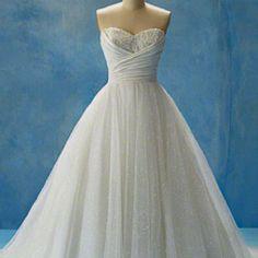 Cinderella inspired wedding dress in Alfred Angelo's Disney princess line