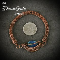 The Dream Faire · Cradle of Wisdom - Azurite and Copper Bracelet with Viking Knit (was $85) · Online Store Powered by Storenvy