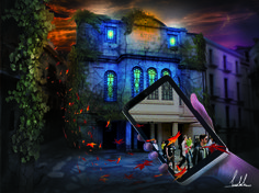 digital art - teatro electra - iglesias