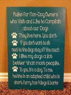 Non-dog owners rules