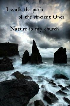 Nature is my Church!  Biology, chemistry, physics!