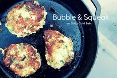Bubble and Squeak - potatoes and brussel sprouts make up this quick and easy vegetarian meal