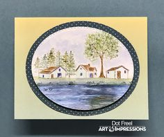 Art Impressions Cards, Craft Photography, Dots Art, Illustration, Drawings, Watercolor Stamps, Watercolor Cards, Art, Watercolor Design