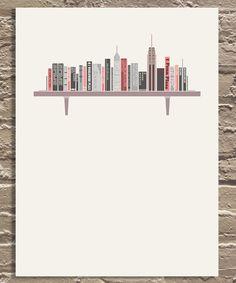 skyline on a shelf
