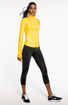 Zella Jacket & Crop Pants available at Yoga Fashion, Sport Fashion, Fitness Fashion, Fitness Gear, Fitness Apparel, Workout Attire, Workout Wear, Athletic Outfits, Athletic Wear