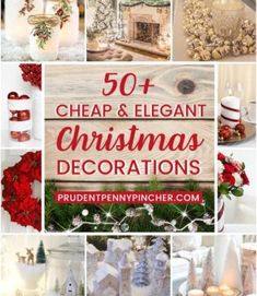 50 Cheap and Elegant Christmas Decor Ideas - Looking for elegant Christmas decor on a budget? Here are some sophisticated DIY Christmas decorations that will make your home look magical and festive without breaking the bank. Wood Box Centerpiece, Lighted Centerpieces, Christmas Centerpieces, Christmas Decorations, Christmas Ribbon, Christmas Balls, Christmas Diy, Christmas Projects, Family Christmas