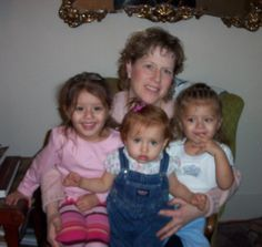 My first three grandchildren and I , How they've grown up !