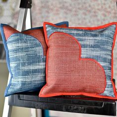 Crazy Tips Can Change Your Life: Neutral Decorative Pillows Cushions neutral decorative pillows guest bedrooms.How To Make Decorative Pillows Projects decorative pillows for teens signs.Decorative Pillows On Bed Queen. Silver Pillows, Blue Pillows, Diy Pillows, Sewing Pillows, Dog Pillow Bed, Quilt Pillow, Heart Pillow, Rag Quilt, Living Room Decor Pillows