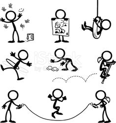 Stick Figure People kids playing royalty-free stick figure people kids playing stock vector art & more images of child Figure Drawing Books, Stick Figure Drawing, Doodle Drawings, Cartoon Drawings, Doodle Art, Tattoo Painting, Doodle People, Stick Art, Sketch Notes