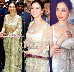 Tamannah Bhatia in Shehla Khan Saree for Malabar Gold and Diamonds Store Launch