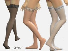 Parisian stockings at Altea127 SimsVogue via Sims 4 Updates