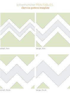 chevron pattern printable templates. handy.