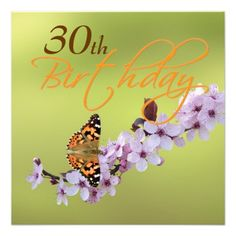 Butterfly on cherry blossom - birthday party