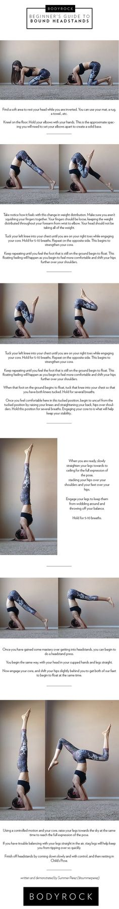 Beginner's Step by Step Guide to Headstands #yoga