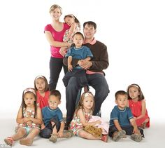 Jon & Kate Plus 8: The family of 10 posed for a promotional photo during their TLC reality show