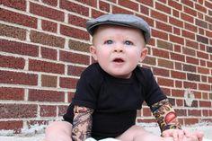 Black Heartbreaker tattoo sleeve onesie or by Thetattoodtyke, $25.00 OH MY GOODNESS!!