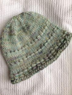 Warm Soft Handknit Wool Winter Hat. Light Aqua Wool by SusanDeanne