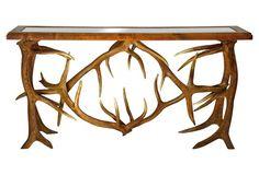 Elk Antler Console