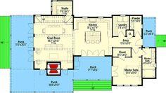 Exclusive 3 Bedroom Farmhouse with Expansive Porches - 130001LLS   Architectural Designs - House Plans
