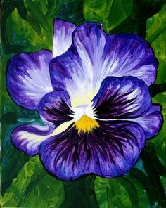 advanced painting--pansy