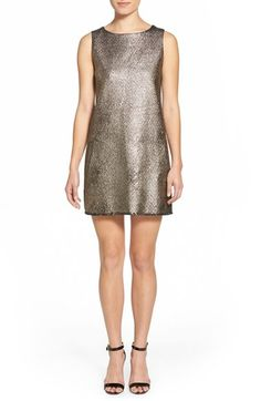 cupcakes and cashmere 'Mollie' Metallic Shift Dress available at #Nordstrom