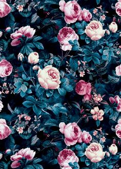 floral, fashion, pattern, moda...