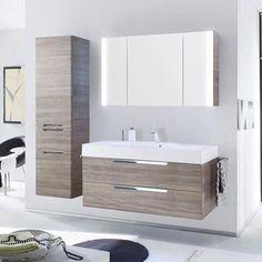 Contemporary Small Bathrooms, Modern Bathroom Design, Bathroom Interior Design, Slate Bathroom, Ikea Bathroom, Bathroom Furniture, Clever Bathroom Storage, Timeless Bathroom, Bedroom Cupboard Designs
