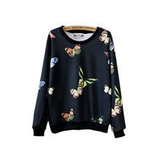 Namnoishop : 2015 #Cute #Animal Butterfly Printed Hoodies Sweatshirts / The actual item's color maybe slightly different from the picture shown due to the lightin...