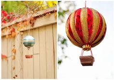 Ornament Template, Ornament Tutorial, Diy Christmas Ornaments, Christmas Decorations, Holiday Decor, Balloon Basket, How To Make Balloon, Hot Air Balloon, Balloons